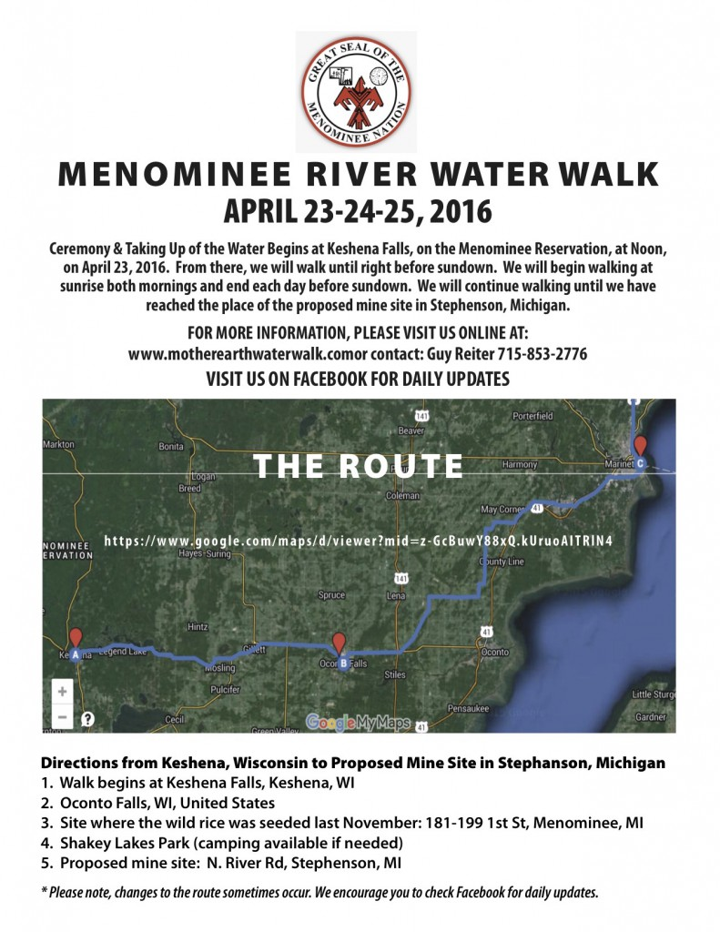 Menominee R. walk map